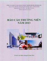 Báo cáo thường niên năm 2013 - Công ty cổ phần Đầu tư Hạ tầng Kỹ thuật T.P Hồ Chí Minh