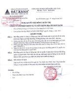 Nghị quyết Hội đồng Quản trị ngày 14-6-2011 - Công ty Cổ phần Dịch vụ và Xây dựng Địa ốc Đất Xanh