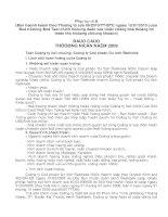Báo cáo thường niên năm 2009 - Công ty Cổ phần Du lịch Đắk Lắk