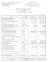 Báo cáo tài chính quý 1 năm 2015 - Công ty Cổ phần Kỹ nghệ Đô Thành