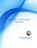 Báo cáo thường niên năm 2010 - Công ty cổ phần Thế kỷ 21