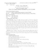 Báo cáo thường niên năm 2007 - Công ty Cổ phần Thương mại Dịch vụ Vận tải Xi măng Hải Phòng
