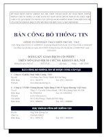 Bản cáo bạch - Công ty cổ phần Than miền Trung - Vinacomin