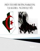 Thuyết trình môn marketing quốc tế phân tích môi trường marketing tại algeria ngành hạt tiêu