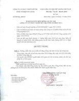 Nghị quyết Hội đồng Quản trị ngày 14-12-2010 - Công ty Cổ phần Phát triển Đô thị Công nghiệp Số 2