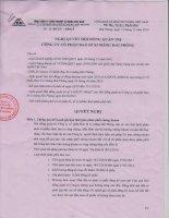 Nghị quyết Hội đồng Quản trị ngày 15-12-2010 - Công ty cổ phần VICEM Bao bì Hải Phòng