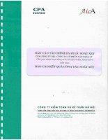 Báo cáo tài chính công ty mẹ quý 2 năm 2014 (đã soát xét) - Công ty Cổ phần Xây dựng 47