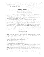 Nghị quyết Hội đồng Quản trị ngày 20-11-2009 - Công ty cổ phần VICEM Bao bì Bút Sơn