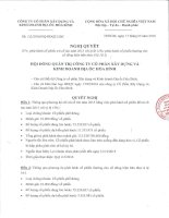 Nghị quyết Hội đồng Quản trị - Công ty cổ phần Xây dựng và Kinh doanh Địa ốc Hoà Bình