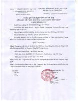 Nghị quyết Hội đồng Quản trị - Công ty cổ phần Thương mại Dịch vụ Tổng hợp Cảng Hải Phòng