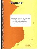 Báo cáo tài chính năm 2013 (đã kiểm toán) - Công ty cổ phần Gạch Ngói Gốm Xây dựng Mỹ Xuân