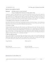 Báo cáo tài chính năm 2008 (đã kiểm toán) - Công ty Cổ phần Sách Giáo dục tại Tp. Đà Nẵng
