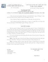 Nghị quyết Hội đồng Quản trị ngày 13-9-2010 - Công ty Cổ phần Đầu tư và Phát triển giáo dục Hà Nội
