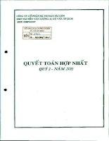 Báo cáo tài chính hợp nhất quý 2 năm 2011 - Công ty Cổ phần Sản xuất Thương mại May Sài Gòn