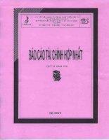 Báo cáo tài chính hợp nhất quý 2 năm 2011 - Công ty Cổ phần Ngoại thương và Phát triển Đầu tư Thành phố Hồ Chí Minh