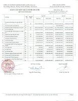 Báo cáo KQKD công ty mẹ quý 3 năm 2011 - Công ty Cổ phần Tập đoàn Đức Long Gia Lai