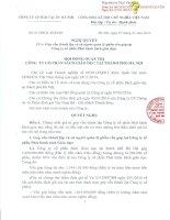 Nghị quyết Hội đồng Quản trị - Công ty Cổ phần Sách Giáo dục tại Tp.Hà Nội