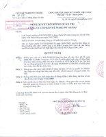 Nghị quyết Hội đồng Quản trị ngày 18-11-2009 - Công ty Cổ phần Kỹ nghệ Đô Thành