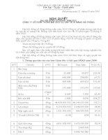 Nghị quyết đại hội cổ đông ngày 22-5-2010 - Công ty Cổ phần Thương mại Dịch vụ Vận tải Xi măng Hải Phòng
