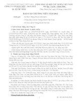 Báo cáo thường niên năm 2012 - Công ty Cổ phần Dệt  - May Huế