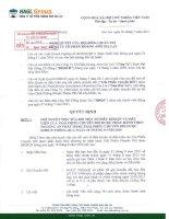 Nghị quyết Hội đồng Quản trị ngày 1-7-2011 - Công ty Cổ phần Hoàng Anh Gia Lai