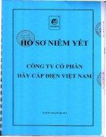 Bản cáo bạch năm 2014 - Công ty cổ phần Dây Cáp Điện Việt Nam