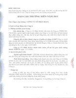 Báo cáo thường niên năm 2011 - Công ty Cổ phần Basa