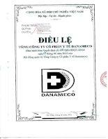 Bản điều lệ - Tổng Công ty cổ phần Y tế Danameco