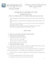 Nghị quyết Hội đồng Quản trị ngày 18-02-2010 - Công ty Cổ phần Đầu tư và Phát triển giáo dục Hà Nội