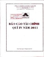 Báo cáo tài chính quý 4 năm 2011 - Công ty Cổ phần Gạch men Chang Yih