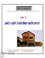 Báo cáo thường niên năm 2015 - Công ty Cổ phần Đầu tư Phát triển - Xây dựng số 2