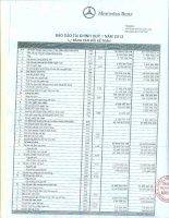 Báo cáo tài chính công ty mẹ quý 1 năm 2012 - Công ty Cổ phần Dịch vụ Ô tô Hàng Xanh