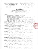 Nghị quyết Đại hội cổ đông thường niên - Công ty cổ phần VICEM Bao bì Bút Sơn