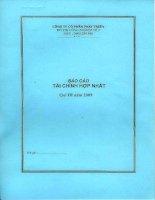 Báo cáo tài chính quý 3 năm 2009 - Công ty Cổ phần Phát triển Đô thị Công nghiệp Số 2