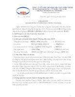 Nghị quyết đại hội cổ đông ngày 18-9-2010 - Công ty Cổ phần Lâm Nông sản Thực phẩm Yên Bái