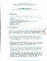 Báo cáo thường niên năm 2014 - Công ty Cổ phần Chứng khoán Đà Nẵng