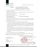 Báo cáo tài chính công ty mẹ quý 3 năm 2014 - Tổng Công ty Cổ phần Đầu tư Xây dựng và Thương mại Việt Nam