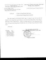 Báo cáo tài chính công ty mẹ quý 1 năm 2012 - Tổng Công ty Phân bón và Hóa chất Dầu khí-CTCP