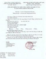 Báo cáo tài chính công ty mẹ quý 1 năm 2016 - CTCP Cấp nước Đồng Nai