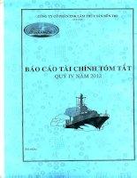 Báo cáo tài chính quý 4 năm 2012 - Công ty Cổ phần Xuất nhập khẩu Lâm Thủy sản Bến Tre