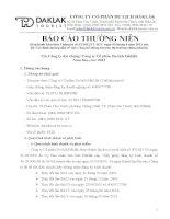 Báo cáo thường niên năm 2013 - Công ty Cổ phần Du lịch Đắk Lắk