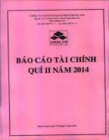 Báo cáo tài chính quý 2 năm 2014 - Công ty Cổ phần Gạch men Chang Yih