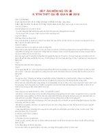 Đáp án môn Ngữ Văn  Kỳ thi THPT quốc gia 2016