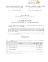 Nghị quyết Đại hội cổ đông thường niên - Công ty Cổ phần Đầu tư Tài chính Giáo dục