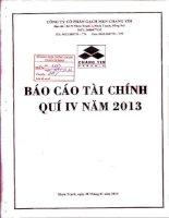 Báo cáo tài chính quý 4 năm 2013 - Công ty Cổ phần Gạch men Chang Yih