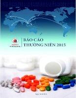 Báo cáo thường niên năm 2015 - Công ty Cổ phần Xuất nhập khẩu Y tế Domesco