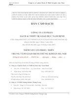Bản cáo bạch - Công ty Cổ phần Sách và Thiết bị giáo dục Nam Định