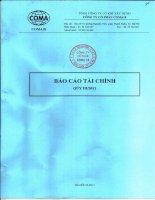 Báo cáo tài chính quý 3 năm 2011 - Công ty Cổ phần COMA18