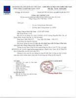 Báo cáo tài chính hợp nhất năm 2015 (đã kiểm toán) - Tổng Công ty Khí Việt Nam-CTCP