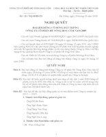 Nghị quyết đại hội cổ đông ngày 25-12-2009 - Công ty Cổ phần Bê tông Hoà Cầm - Intimex